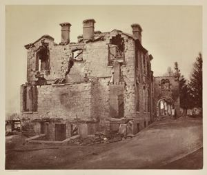 Image of A Country House Destroyed by Fire