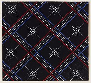 Image of Fabric design (Red, white, and blue pattern)