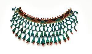 Image of Beaded collar with lotus flowers